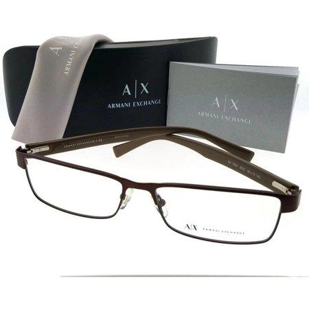 Armani Exchange AX1009-052-58 Unisex Coffee Frame Clear Lens Eyeglasses NWT  - Walmart.com c0f28392622b9