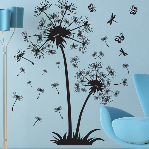Style and Apply Dandelion de Luxe Wall Decal