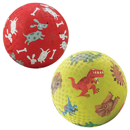 Playground Balls Set of 2 (Dinosaurs & Puppy)