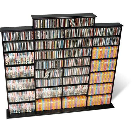Grant Media Storage Rack - Black - Prepac