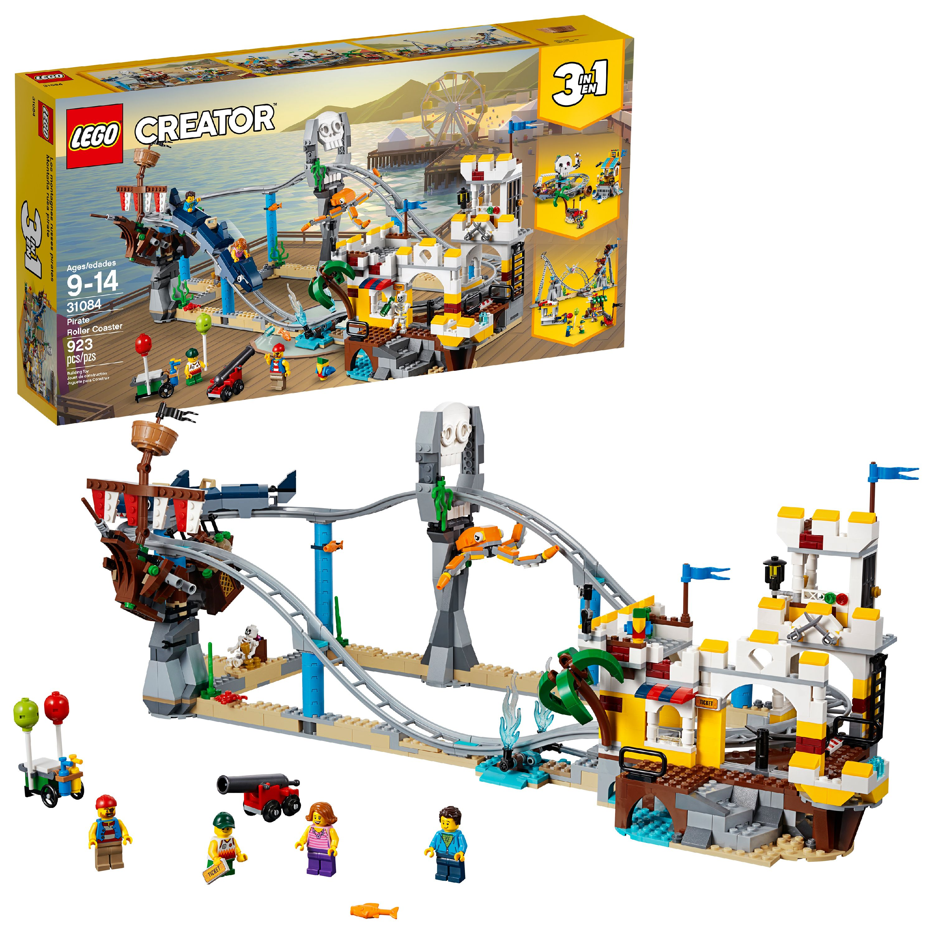 Lego Creator 3in1 Pirate Roller Coaster 31084 (923 Pieces) by LEGO System Inc
