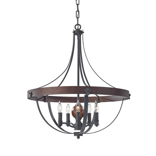 Feiss Alston 5 Light Chandelier by Murray Feiss