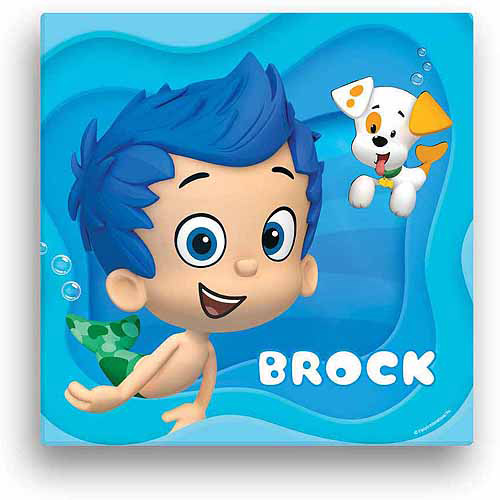 """Personalized Bubble Guppies Gil 16"""" x 16"""" Canvas Wall Art"""