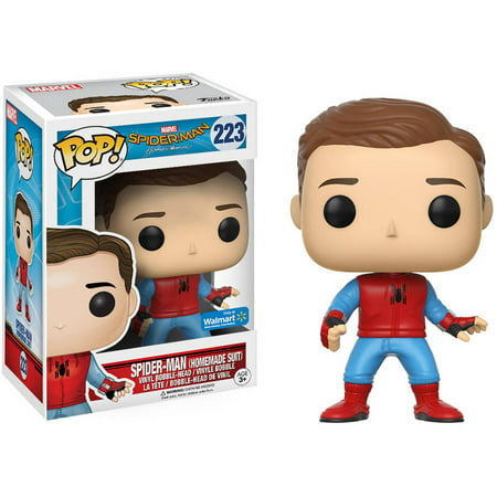 Funko Pop  Marvel  Spider Man  Spider Man Homemade Suit Unmasked  Walmart Exclusive