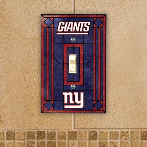 New York Giants Art Glass Lightswitch Cover