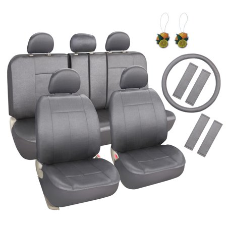 leader accessories cloth universal auto 17pcs car seat covers set