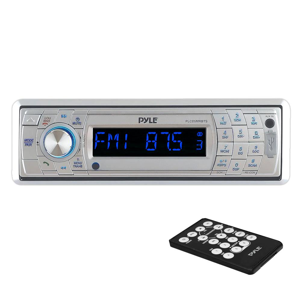 3.5mm Pyle PLCD5MRBTS Bluetooth Stereo Radio Headunit Receiver Remote Control CD Player Black Sound Around Single DIN USB Flash /& SD Card Readers Aux Wireless Streaming /& Call Answering MP3 Input