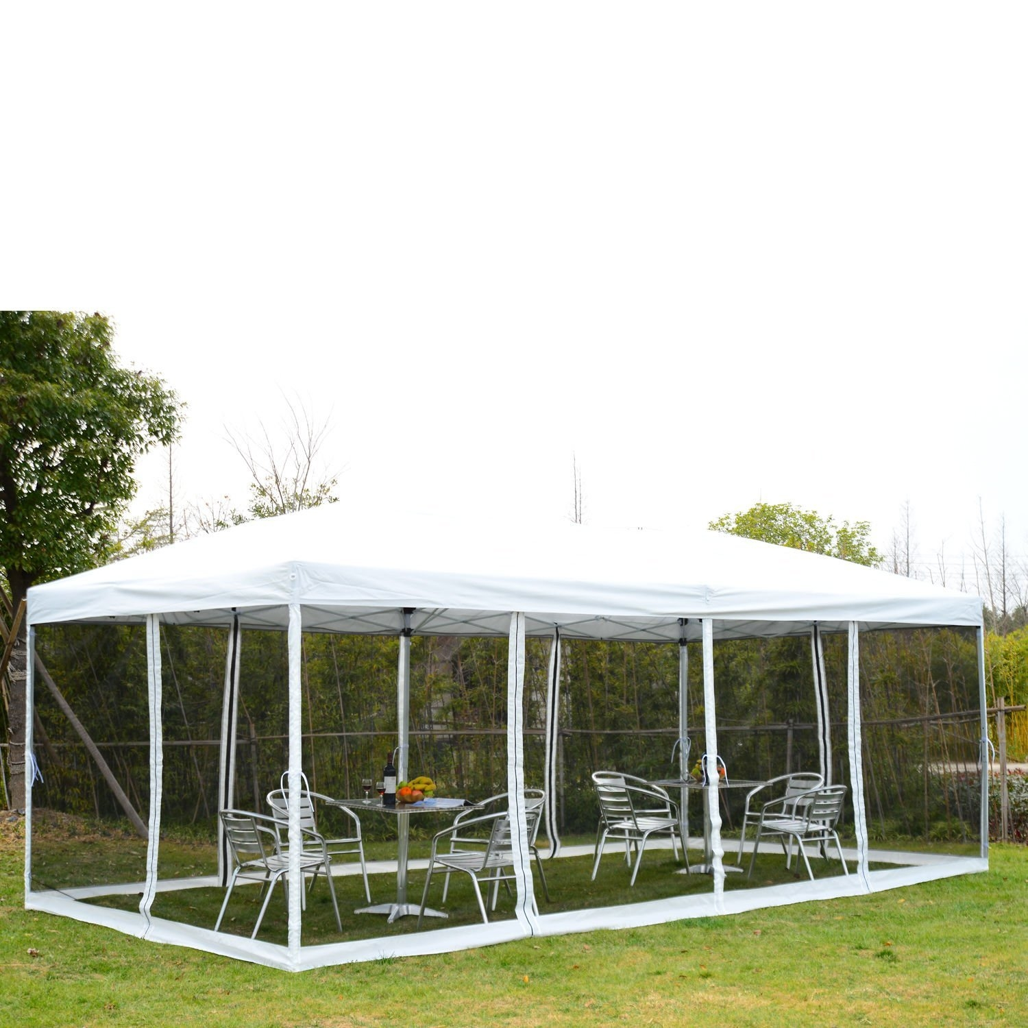 New MTN-G Outdoor 10x20ft Pop Up Party Tent Canopy Gazebo W/