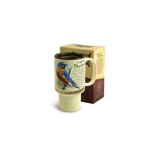 American Expeditions Stoneware Travel Mug Bluebird