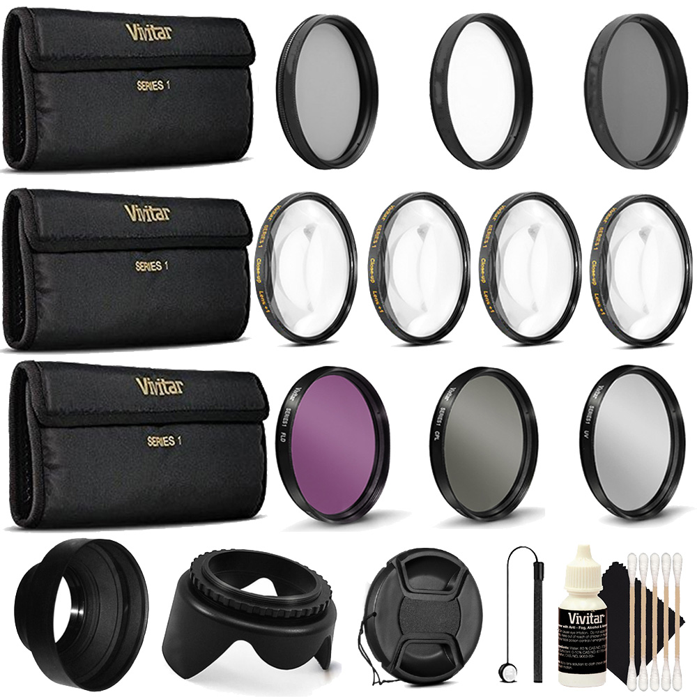 52mm All in 1  Accessory Kit for Nikon D3300 D3200 D5300 D5200 D5100 D7000 D7100 D7200