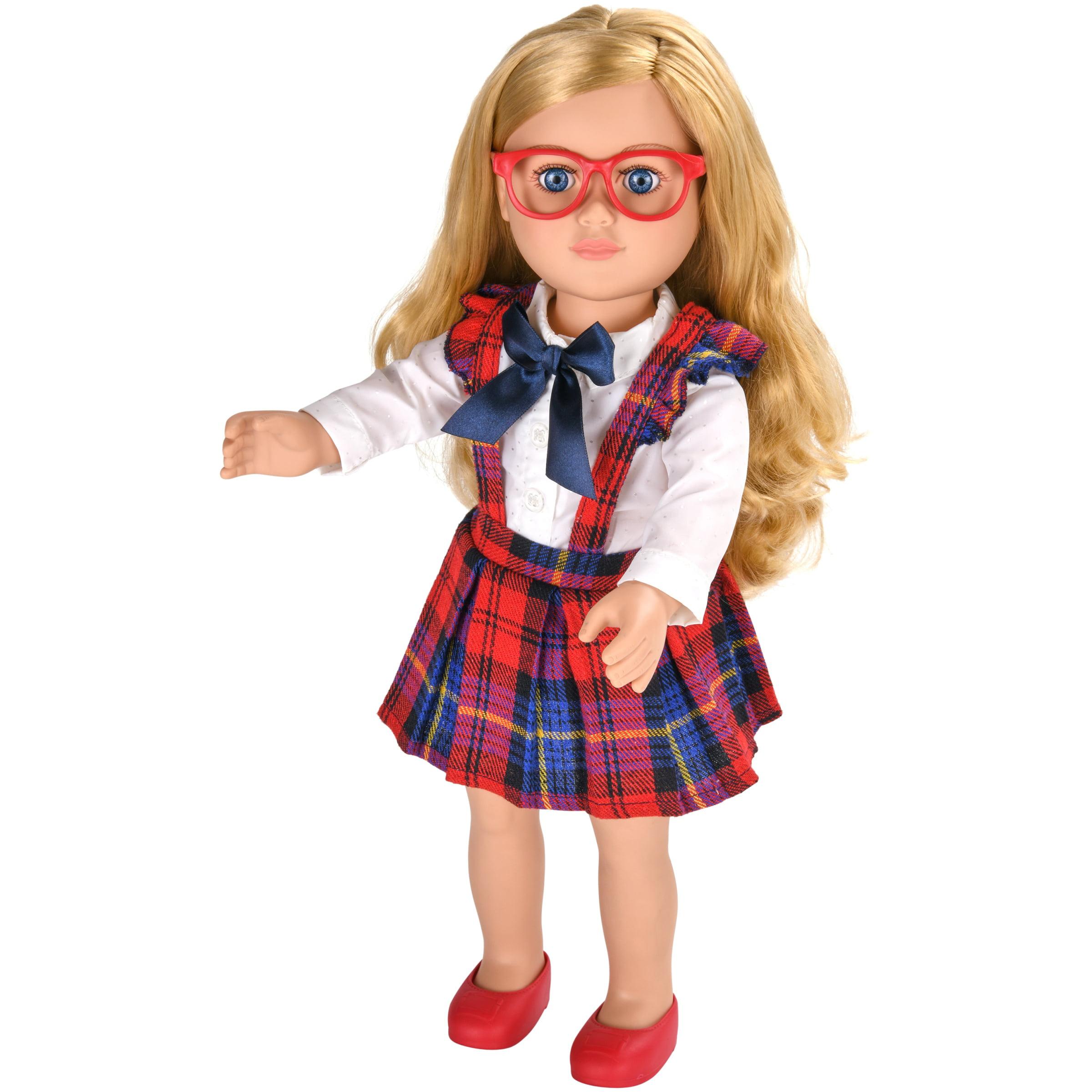 "My life as 18"" poseable school girl doll, blonde hair"