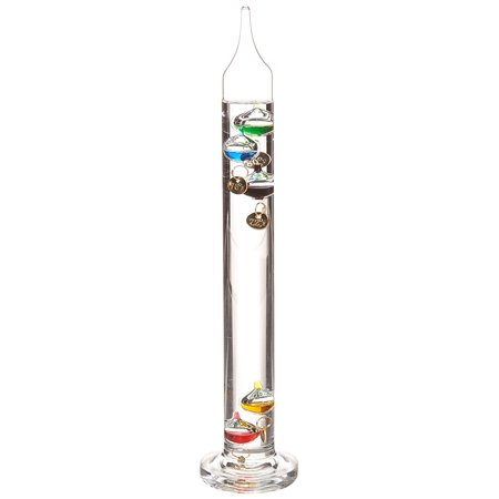 13 Inch Galileo Thermometer - G.W. Schleidt SH213 Galileo Thermometer 12-Inch Multicolored, Invented 400 years ago by Galileo Galilei, a pioneer of modern physics and astronomy By G W Schleidt