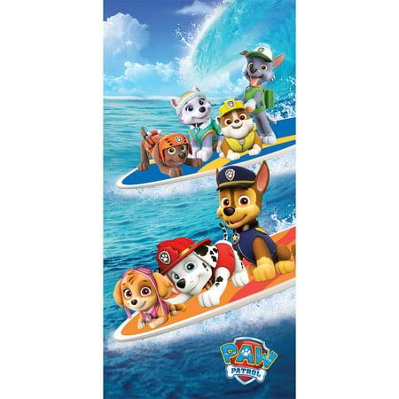 "Nickelodeon Paw Patrol Cotton 28"" x 58"" Surf Crew Beach Towel, 1 Each"