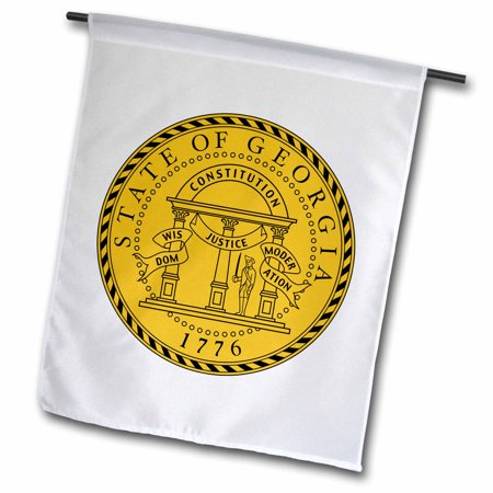 3dRose State Seal of Georgia (PD-US) - Garden Flag, 12 by