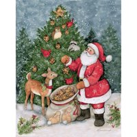 Lang Companies Father Christmas Classic Christmas Cards for Heart Warming Greetings - 18 Cards and 19 Envelopes with Keepsake Box