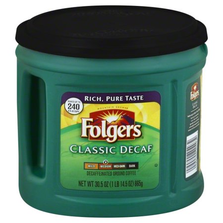 Folgers Classic Decaf Ground Coffee, Medium Roast,