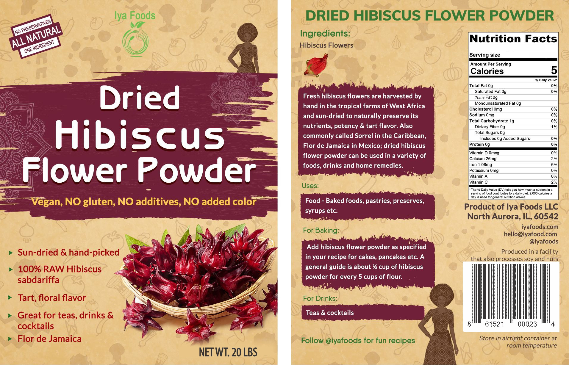 Dried Hibiscus Powder 4 Oz Walmartcom