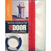 Zipwall ZDC Clear Dust Barrier Door, 5 Ft x 8-1/2 Ft