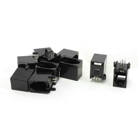 10 Pcs RJ9 RJ10 RJ22 4P4C Handset Coiled Cord Sockets Jacks 13 x 9.5 x
