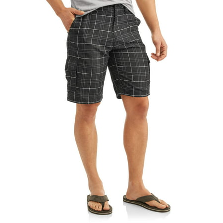 Men's Plaid Microfiber Cargo Shorts](Plaid Madras Shorts)