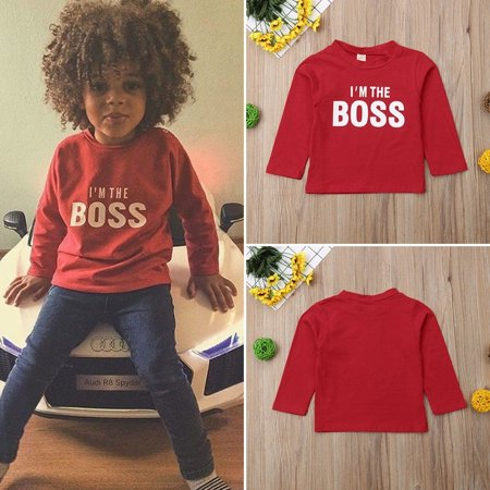 Hot Toddler Kid Baby Girl Boy Long Sleeve Top Sweatshirt Clothes - Hot Girls With Clothes On