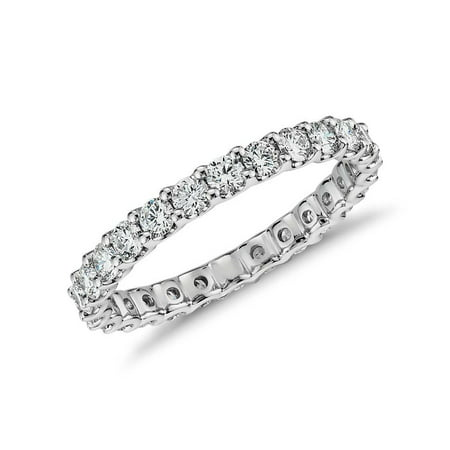 Next Level Jewelry Womens Sterling Silver .925 Crystal Clear Round Cubic Zirconia 2MM Eternity Band All-Around CZ Stones Ring, Stackable, Wedding, Engagement, Anniversary, Sizes 5-9 Round Clear Czs Ring