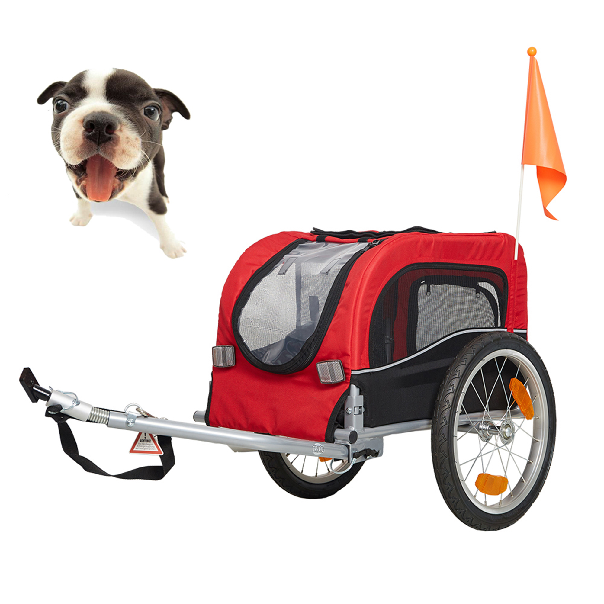 Karmas Product Pet Dog Bike Trailer Bicycle Trailer Carrier Cycling Jogging w/Suspension