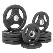 8-Pc Tri-Grip Olympic Plate Weight Package