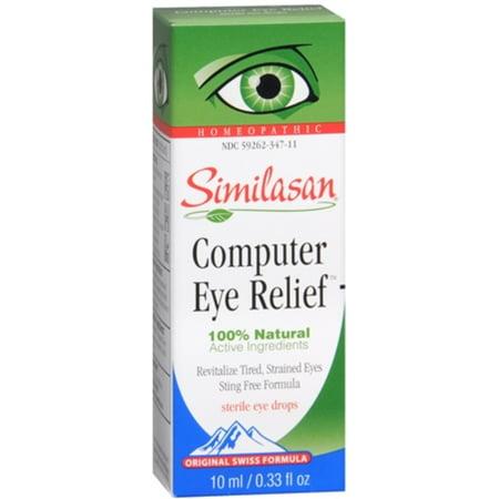 Similasan Computer Eye Relief Eye Drops 10 mL (Pack of 3) (3 Computer Eyes)