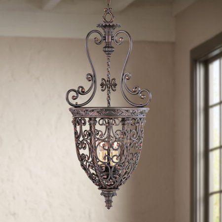 French Iron Four Light (Franklin Iron Works French Scroll 15 1/4