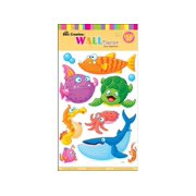 "Best Creation Sticker Wall Decor 16"" Cartoon Fish"