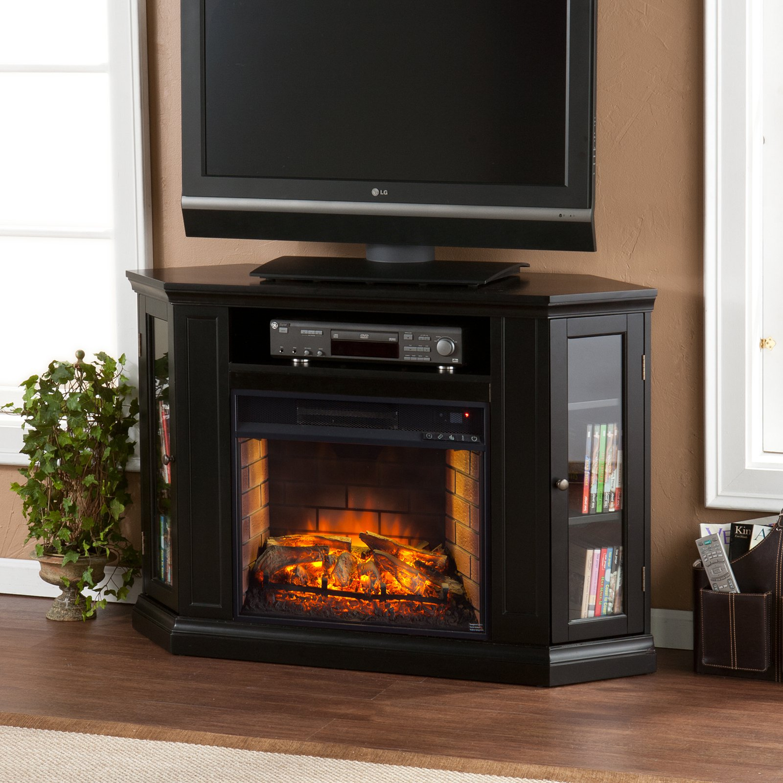 Southern Enterprises Claremont Convertible Media Infrared Fireplace