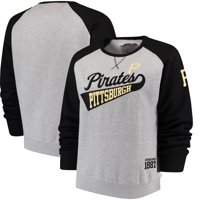 Pittsburgh Pirates Soft as a Grape Women's Plus Size Payoff Pitch Color Blocked Sweatshirt - Gray/Black