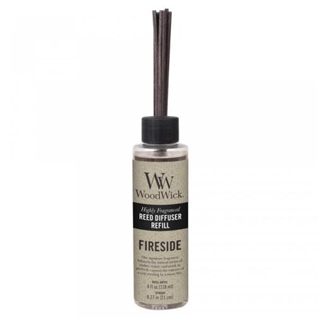 Woodwick Candle Reed Diffuser Refill 4 Oz. - Fireside (Wood Wick Reed Diffuser Refill)