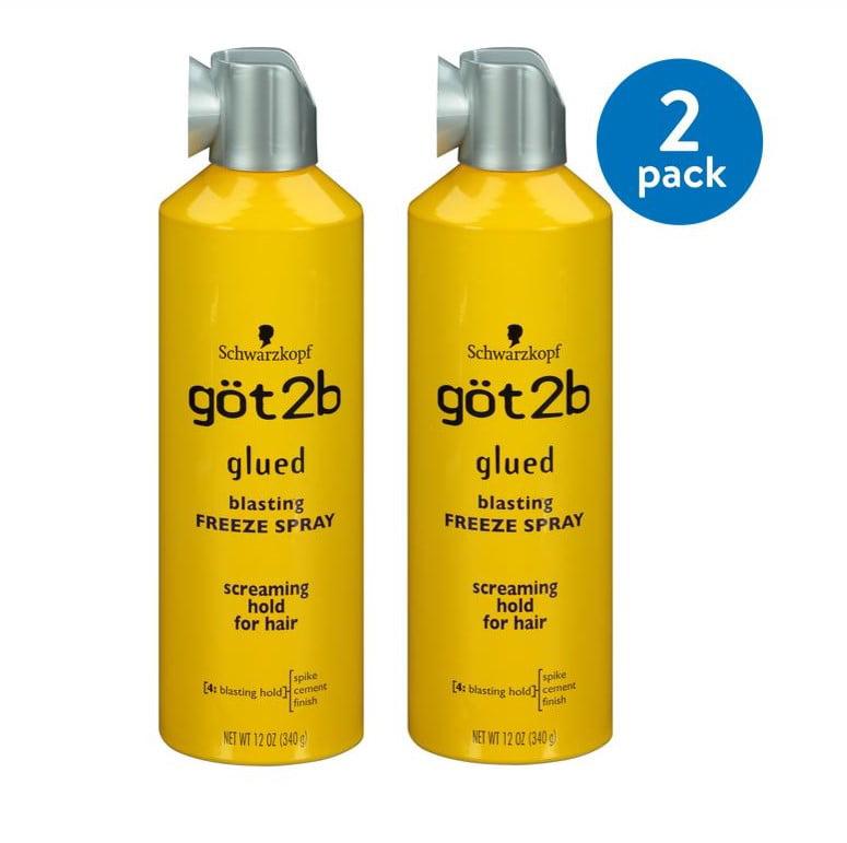 (2 Pack) Got2b Glued Blasting Freeze Hairspray, 12 Ounce