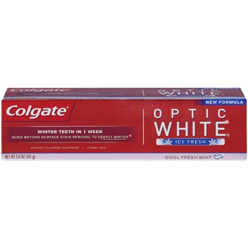 Colgate Optic White Anticavity Fluoride Toothpaste Icy Fresh, 5 oz (Pack of 2)