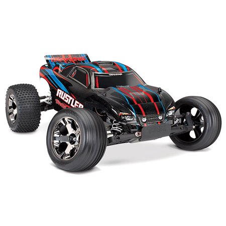 Rustler VXL: 1/10 Scale Stadium Truck with TQi Traxxas Link Enabled 2.4GHz Radio System & Traxxas Stability Management (TSM) ()