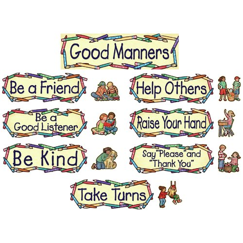Teacher Created Resources Sw Good Manners Mini Bulletin Board Cut Out Set