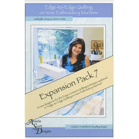 Amelie Scott Designs Edge-to-Edge Quilting on your Embroidery Machine Expansion Pack 7