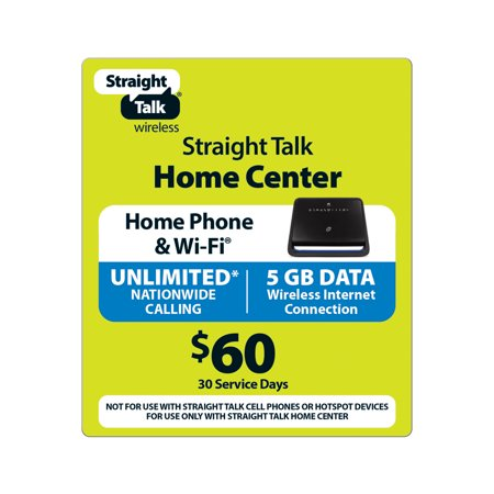 Straight Talk $60 Wireless Home Phone - Unlimited Talk and 5 GB/30 Access Days (Email