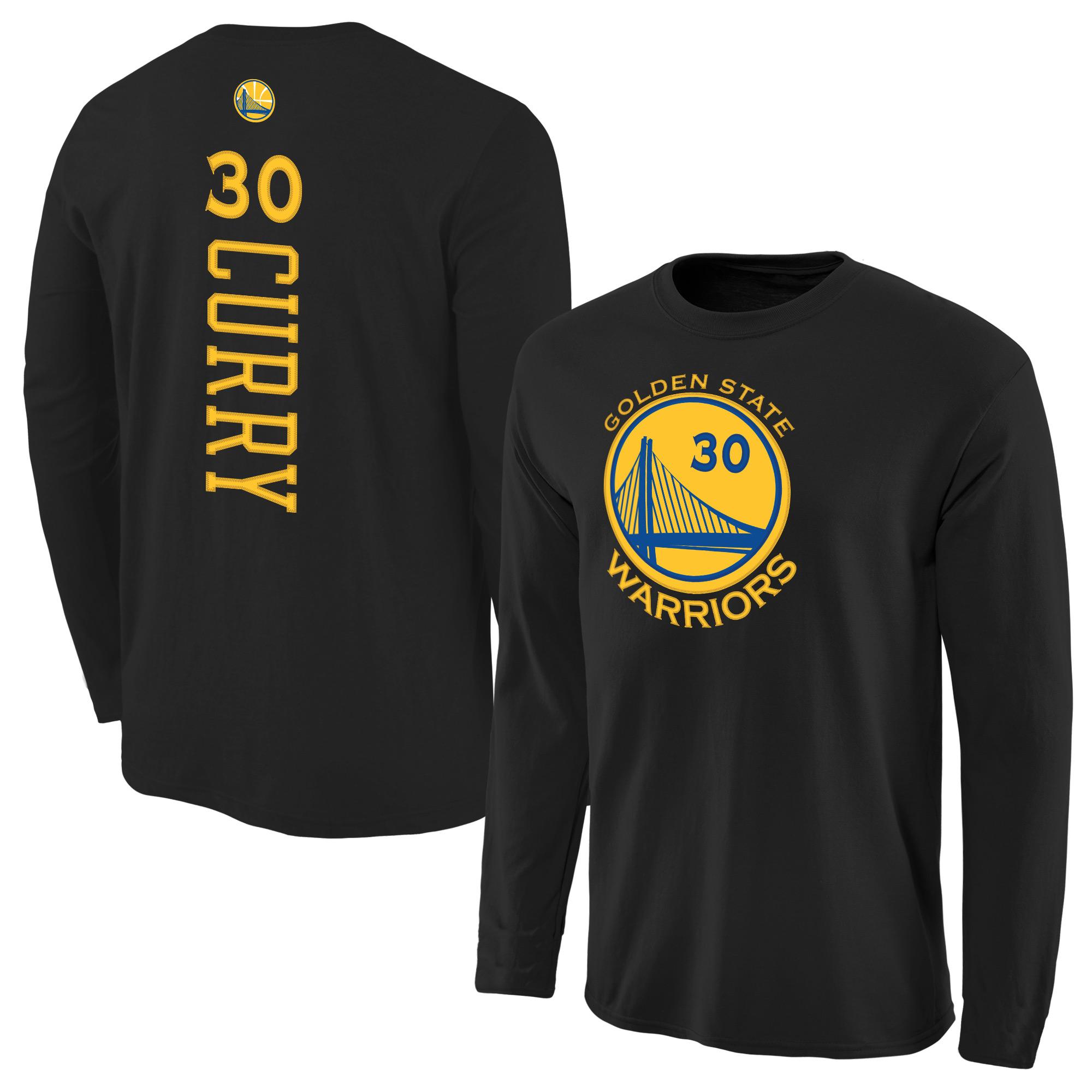 timeless design 316a0 4893a Stephen Curry Golden State Warriors Backer Long Sleeve T-Shirt - Black