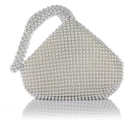 Eleoption Bridesmaid women lady girl bride bling zipper alumium sequins prom cocktail party wedding engagement evening bag purse clutch pouch