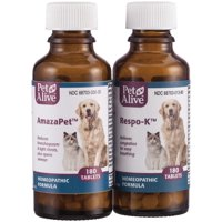 PetAlive Breathe Easy ComboPack for Pets - for Relief of Wheezing, Chest Discomfort, Colds and Respiratory Irritation