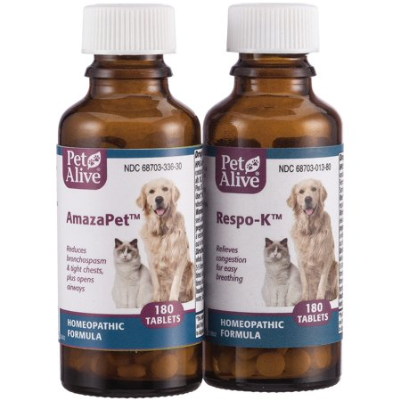 PetAlive Breathe Easy ComboPack for Pets - for Relief of Wheezing, Chest Discomfort, Colds and Respiratory