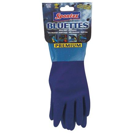 Lehigh Spontex 20005 Bluettes Knit Rubber Gloves-X-LARGE RUBBER -