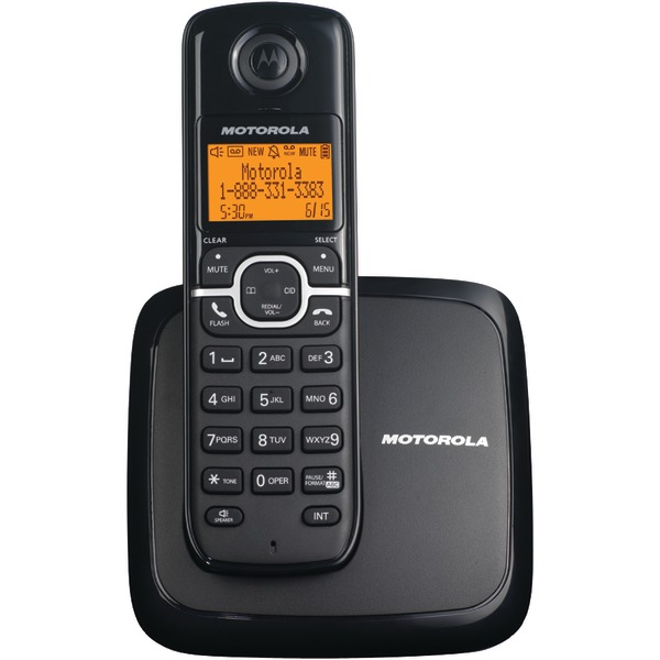 Motorola DECT 6.0 Cordless Phone with 1 Handset and Caller ID - L601M