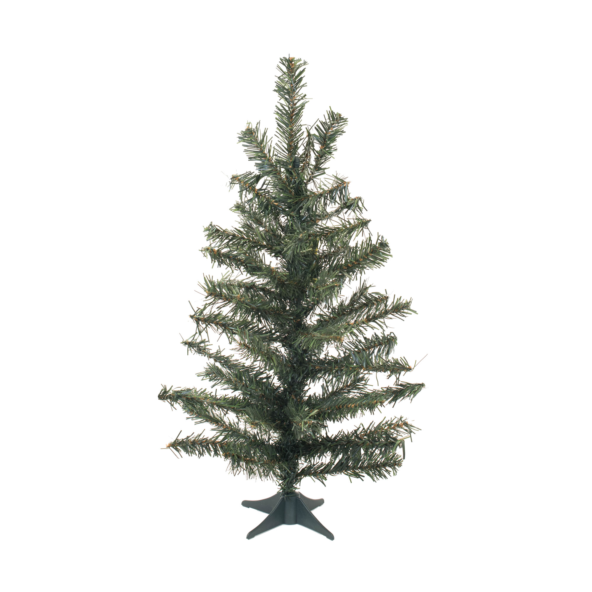 "Vickerman Artificial Christmas Tree 24"" Canadian Pine Tree 58 Tips Plastic Stand"