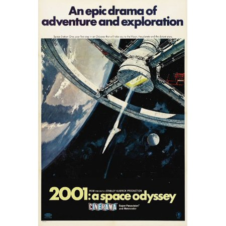 2001: A Space Odyssey - Space Station in Space Cinerama Movie Poster, Approx. Size: 27 x 40 Inches - 69cm x 102cm By Pop Culture