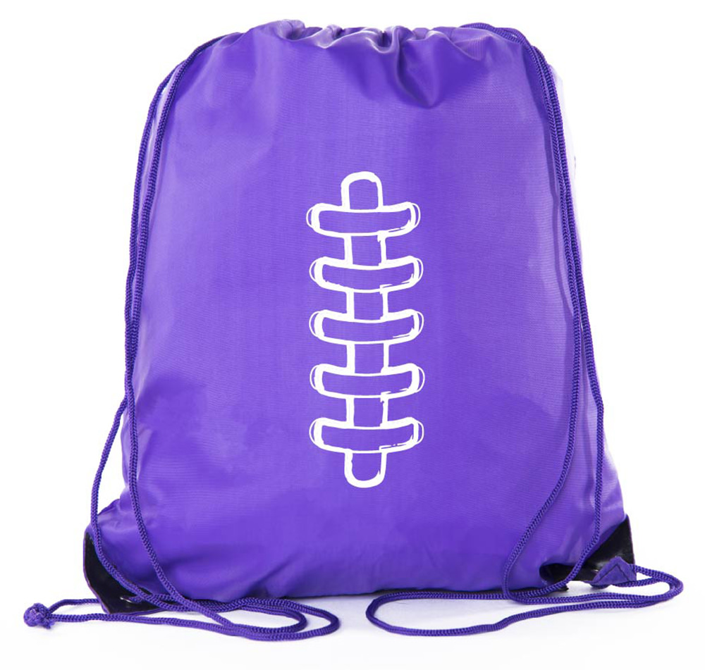 Football Party Bags | Football Drawstring Cinch Backpacks for Team Events, Birthdays, and More!