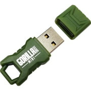 32GB GORILLADRIVE MINI FLASH DRIVE USB GREEN RUGGEDIZED